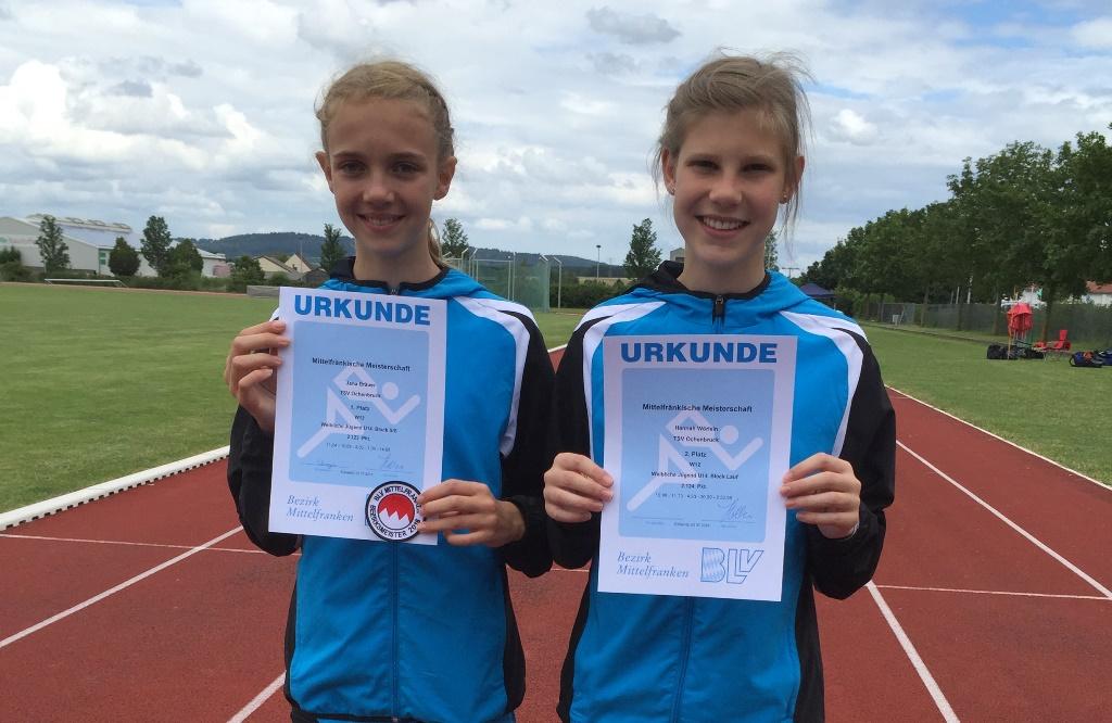 Jana Bräuer und Hannah Wörlein
