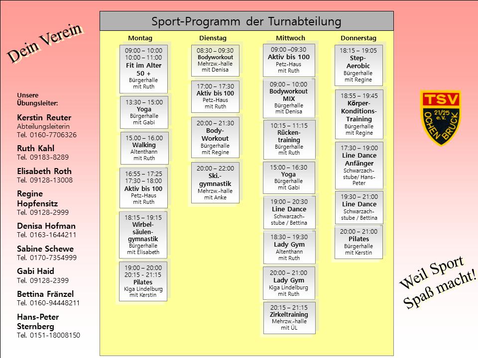 Turnen Sportprogramm Tsv Ochenbruck De