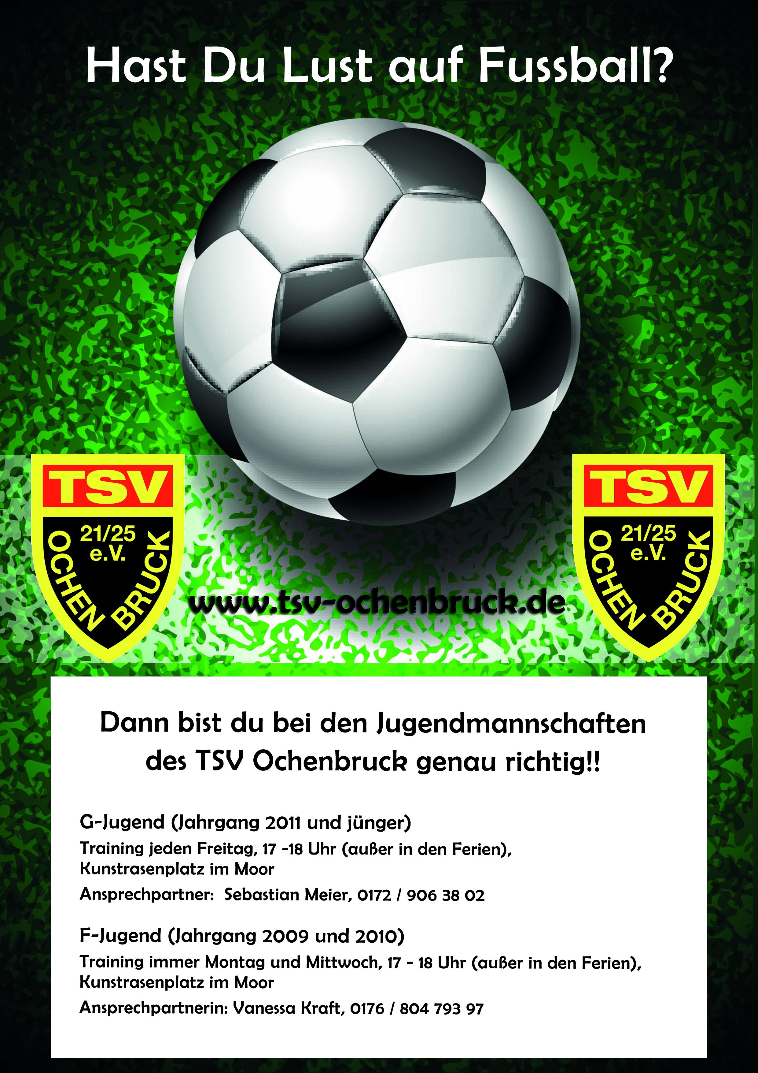 Werbung FuГџball